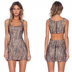 JayGodfrey Lockhart cutout lace dress size 4